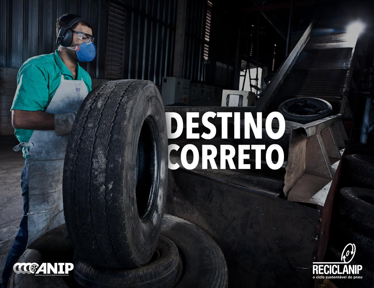 Indústria já recolheu mais de 4 milhões de toneladas de pneus inservíveis