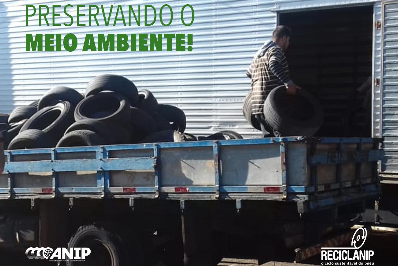 Reciclanip e Prefeitura de Londrina recolhem mais de 25 toneladas de pneus inservíveis